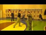 Учебная работа. Русский стиль рукопашного боя. Боковой удар палкой.